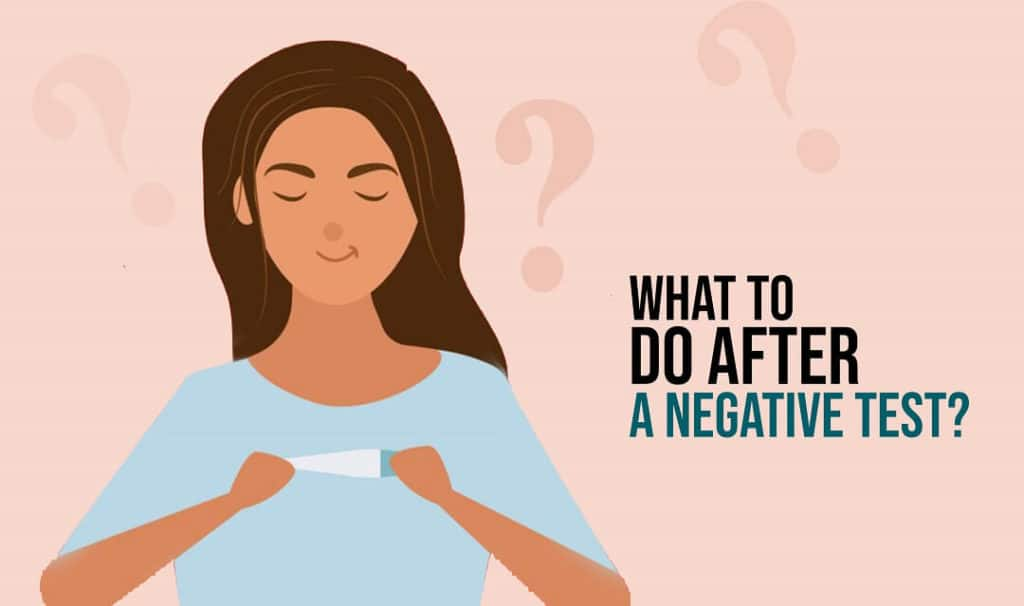 What To Do After a Negative Test